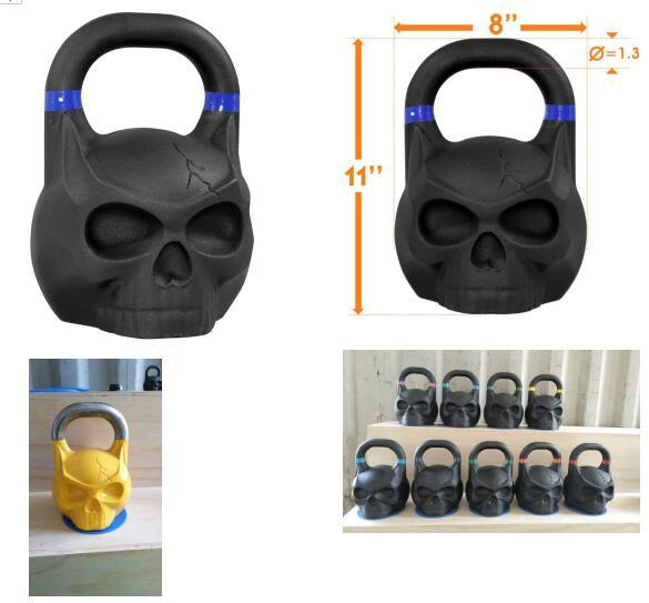 AZJ Fitness Skull Kettlebells